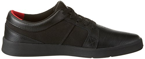 Skate Men Shoe Leather Black Black Black Ineto Toe Round Supra gnpqRp