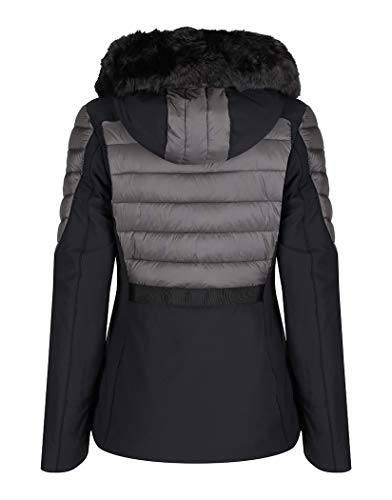 Short Padded With Multi Creenstone Jacket Hood Black FAZR8U