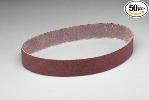 2 x 132 Aluminum Oxide 3M 33648-case Cloth Belt 341D Pack of 50 36 X-Weight Brown