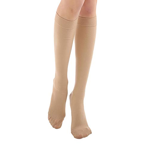 Knee High  Compression Socks 20-30 mmHg, Closed Toe Mediacl Calf Compression Sleeve Firm Support Graduated Compression Stockings Women & Men  Recovery Shin Splints,Edema,Nursing,Varicose Veins