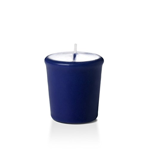 Yummi 15hr Unscented Navy Blue Votive Candles - 9 per pack ()