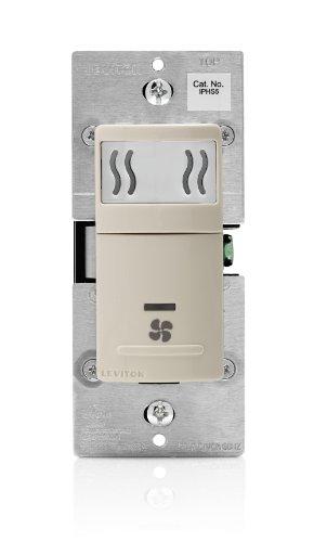 Replace Single Pole Switch (Leviton IPHS5-1LT Humidity Sensor & Fan Control, Single Pole, 10-Pack, Light Almond)