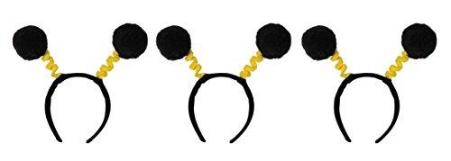 Beistle S60584AZ3 pom boppers, Black/Yellow -