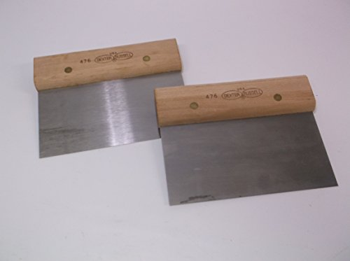 (Dexter Russell - Set of (2) - Hi Carbon Steel Dough Knife Pizza Shop Cutter Heavy Duty 476)