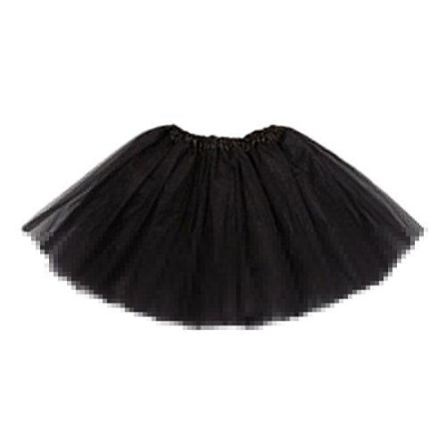 Sagton Baby Kids Girls Princess Pettiskirt Party Ballet Tutu Skirt Mini Dress baby (Black) (Ruffled White Pettiskirt)