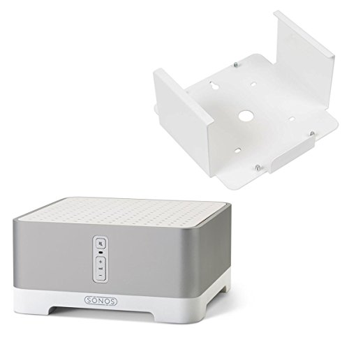 Sonos CONNECT:AMP Wireless Hi-Fi Player with Flexson Wall Bracket (White) by Sonos