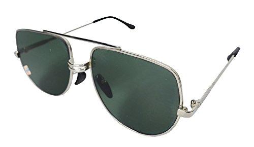 Sunglasses Men Aviator Sun Glasses Green Color Brand Design - 4
