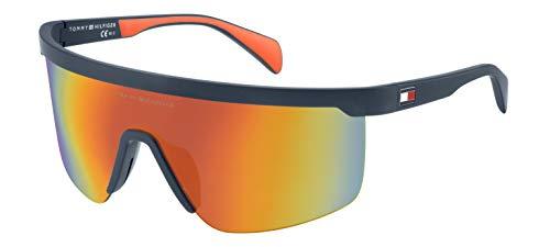 Tommy Hilfiger Th1657gs Shield Sunglasses, Blue Cryorg, 99 ()