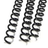 Black Plastic Spiral Binding Coils 5/8'' (16mm), 135 Sheet Capacity, Qty 100