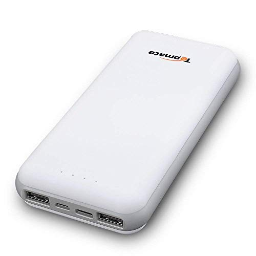 Topmate Power Bank Portable Chargers 20000mAh [Upgraded version] - High Capacity Power Bank with One 5V/3A Type-C and Two 5V/2.4A/1A USB Output ports,for Android,iOS Devices. by TopMate