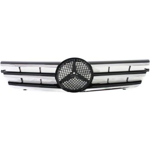 Garage-Pro Grille Assembly for MERCEDES BENZ C-CLASS 02-03 Ptd-Black w/Chrome Molding Coupe
