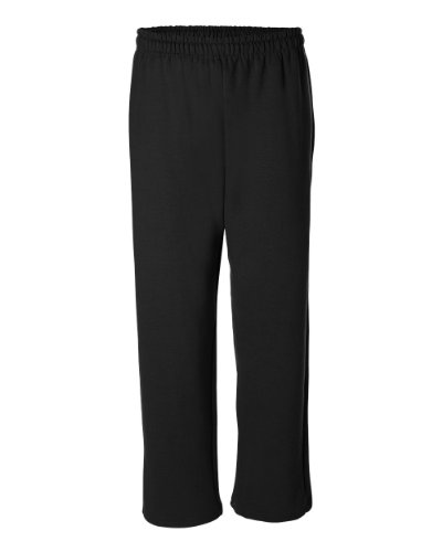Joe's USA(tm Mens Open Bottom Sweatpants X-Large- Black