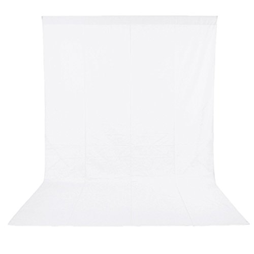 White10x20FT/3x6M Photo Studio Backdrop Polyester Fabric Background for Photography, Video and Television (Background Only) (White, 10x20FT/3x6M) from Longda
