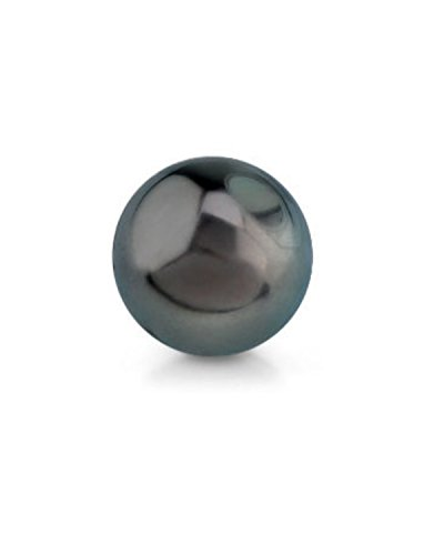 Genuine Single Black Tahitian South Sea Undrilled Round Loose Cultured Pearl - AAA - Strand Loose Pearl