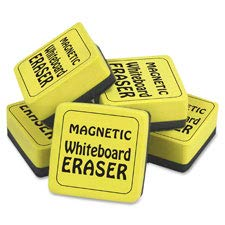 The Pencil Grip TPG3552 Magnetic Whiteboard Eraser Class Pack, Yellow - 24 Per Pack