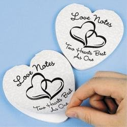 Lot of 24 Two Hearts Wedding Love Notes Notepads Party Favors