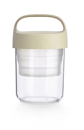 Lekue Jar To Go. 2Pc Travel Jar/Container 14oz, Collapsible