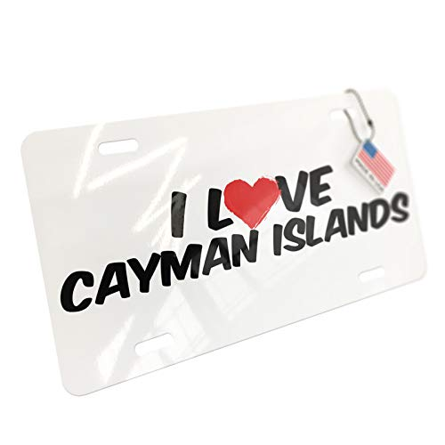 NEONBLOND I Love Cayman Islands Aluminum License ()