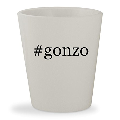 #gonzo - White Hashtag Ceramic 1.5oz Shot - Chat Com Live Glasses