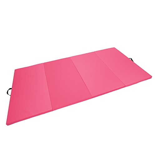 Magshion Tumbling Gym Folding Exercise Mat Gymnastics Aerobics 4'x10'x2'' Pink by Magshion