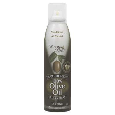 Winona Pure Heart Healthy 100% Olive Oil Cooking Spray 5 Ounces (Pack Of 6)