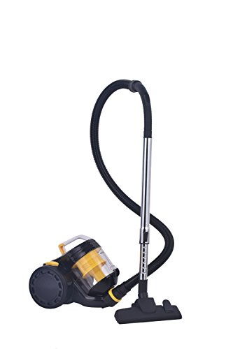 Raceup Canister Vacuum Cleaner Cyclonic Bagless With HEPA Filter And Clean Air Filtration – Corded(CJ1150) (Yellow)