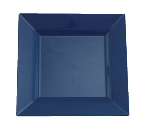 Blue Square Bowl (Kaya Collection - Midnight Dream Blue Plastic Square 6.5