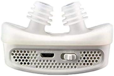 Ykortoo Anti-Schnarch-Vorrichtung Mini CPAP Anti-Schnarchen elektronisches Gerät für Schlafapnoe stoppt Schnarchen, um zu stoppen (Color : White)