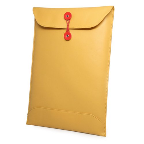 MacBook Air 11'' (2011) Case, BoxWave [Manila Leather Envelope] Retro Envelope Style Hip Cover for Apple MacBook Air 11'' (2011), 11'' (2010)