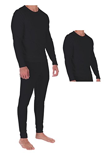 l Set Lightweight Ultra Soft Fleece, Base Layer, Interior Very Warm (Medium, Black-Combo) ()