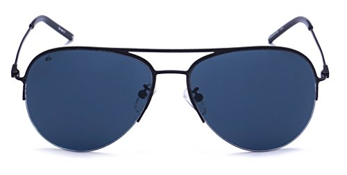 Prive Revaux The Ace Handcrafted Designer Aviator Sunglasses, Black, - Prive Sunglasses