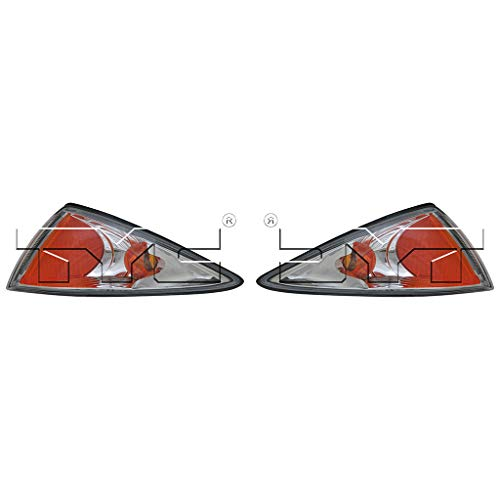 Fits 2000-2002 Chevrolet Cavalier Pair Driver and Passenger Side Turn Signal/Side Marker Light NSF Certified Lens and Housing Only GM2520179 GM2521179 - Replaces 22667009 22667010 ;