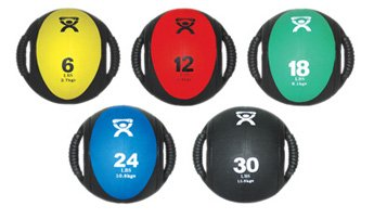 Cando Dual Handle Medicine Ball - 5 Piece Set