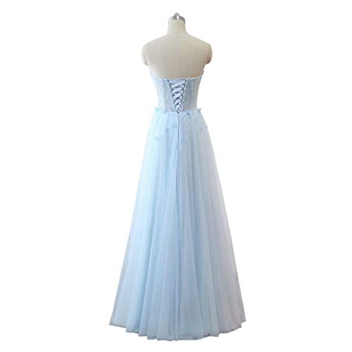 Love King's Schatz Formal Frauen Tulle Ballkleider 28 Long Perlen Maxi Abendkleid 4xdg1wqxC