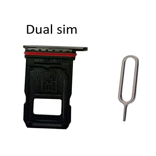 Dual Sim Card Tray Slot Holder Replacement for OnePlus 7 Pro GM1911 GM1913 GM1917 GM1910 GM1915 / 1+7 Pro Black (Sim Pro)