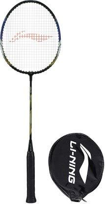 Li Ning XP 70 IV Black, Blue, Gold Strung Badminton Racquet  Pack of: 1, 86 g
