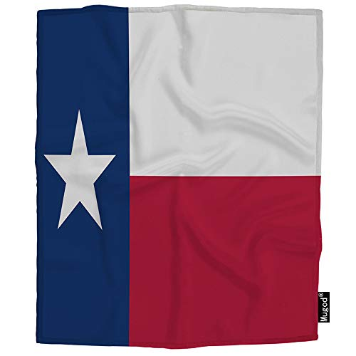 Mugod Texas Flag Blanket State Dallas Houston Red Blue and White Star Fuzzy Soft Cozy Warm Flannel Throw Blankets Decorative for Boys Girls Toddler Baby Dog Cat 40X50 Inch -
