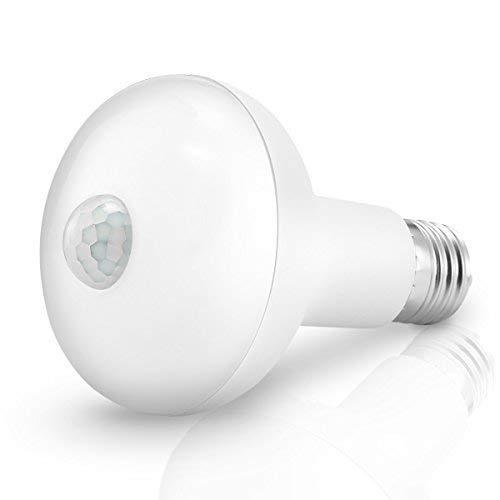 Motion Light Bulb, KINGSO E27 12W 24 LED Smartsense PIR Infrared Motion Detection Light Sensor PIR Bulb Lamp Auto Switch Stairs Night Lights Energy Saving for Security Decoration-12W Warm White by KINGSO