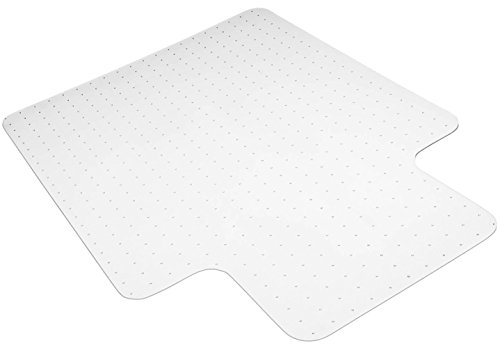 Valuebox Transparent 36'' x 48'' PVC Lipped Chair Mat 2.5mm Thick for Low, Standard and Medium Pile Carpet by Valuebox