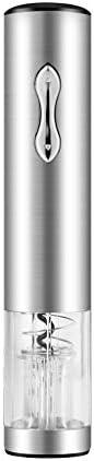 zunruishop Abridor de Vino de Acero Inoxidable Abrebotellas eléctrico Automático Abrebotellas Espiral automático, Abrebotellas Visible Vino Abierto, Acero Inoxidable Saca corchos (Color : Gray)