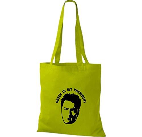 Tela Para Cbxvqwfwt Shirtinstyle De Green Bolso Lime Algodón Mujer BqYxgZq