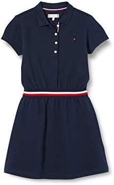 Tommy Hilfiger Mädchen Global Stripe Polo Dress S/S Kleid