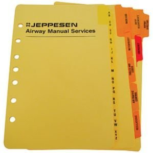 amazon com jeppesen airway manual set of alphabetical tabs am625417 rh amazon com Jeppesen IFR Enroute Chart La Jeppesen IFR Enroute Chart La