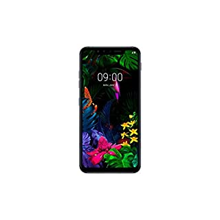 "LG G8s ThinQ (128GB, 6GB RAM) 6.21"" OLED Display, Snapdragon 855, Dual SIM GSM Factory Unlocked LM-Q810EAW - US + Global 4G LTE International Model (Mirror Black)"
