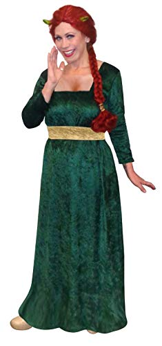 Women's Princess Fiona Shrek Plus Size Supersize Halloween Costume Dress 0x