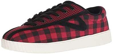 TRETORN Women's NYLITE28PLUS Sneaker, Medium red, 4 M US