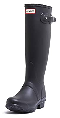 Hunters Boots Women's Original Tall Wedge Back Strap Boots