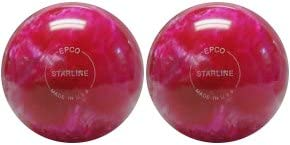 EPCO Duckpin Bowling ball- Starline – ホットピンク&パール – 2 Balls  5 inch- 3lbs. 12 oz.