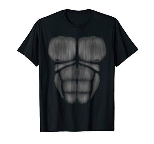 Vegan Power Realistic Gorilla chest Muscles Costume t-shirt