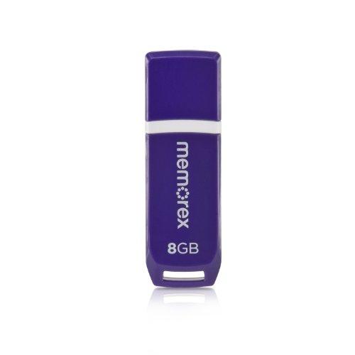 8 Gb Traveldrive Flash - Mini TravelDrive 99004 8 GB USB 2.0 Flash Drive - Purple, Glossy Black